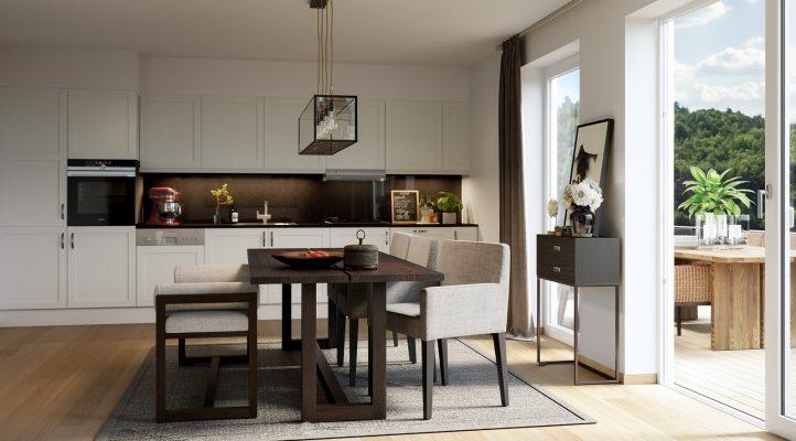 Bygg A1 - Kjøkken og spiseplass i 6. etasje