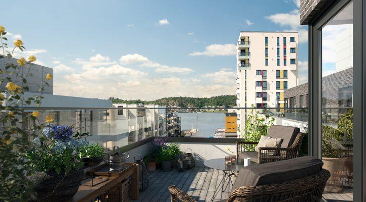 Bygg C2 - Balkong i 6. etasje